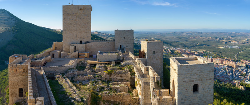 High angle view of Castle of Santa Catalina, Jaen, Jaen Province, Spain
