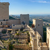 High angle view of Castle of Santa Catalina, Jaen, Jaen Province, Spain