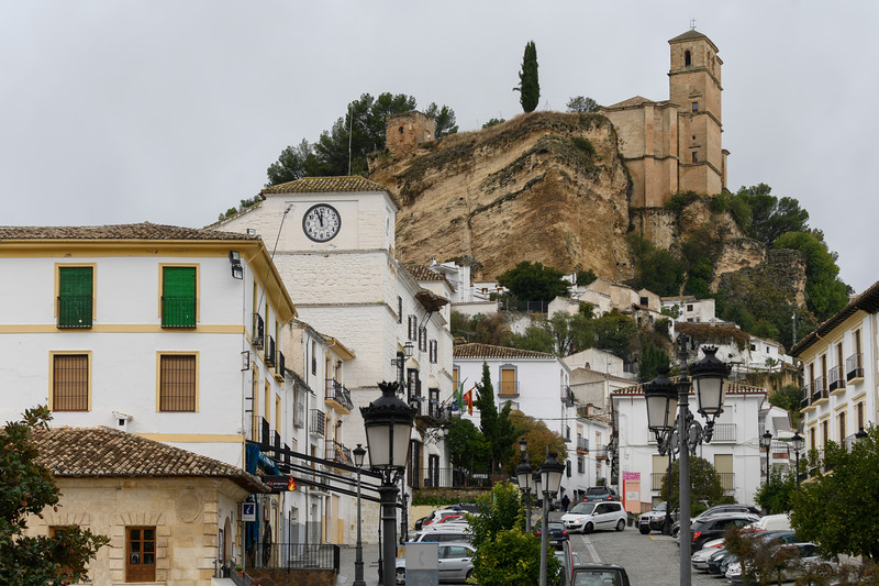 Houses in a town, Montefr�o, Granada, Spain