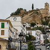 Houses in a town, Montefr�o, Granada, Spain