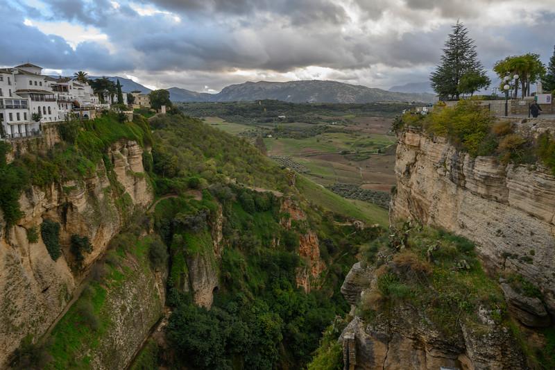 Scenic view of landscape, Ronda, Malaga Province, Spain