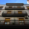 Low angle view of apartment exterior, Ubeda, Jaen Province, Spain