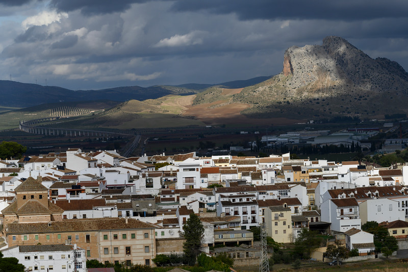 Elevated view of a city, Antequeram Malaga, Spain