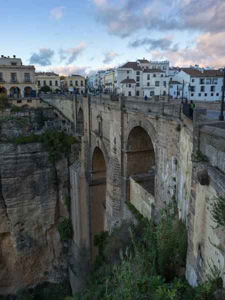 View of Puente Nuevo bridge, Ronda, Malaga Province, Spain
