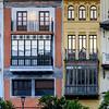 Fa�ade of urban houses of Alfalfa, Seville, Seville Province, Spain