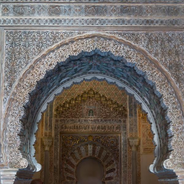 Intricate design on the wall of Granada, Granada Province, Spain