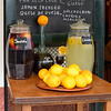 A pitcher of fresh lime and sangria juice outside cafe, Santa Cruz, Seville, Seville Province, Spain