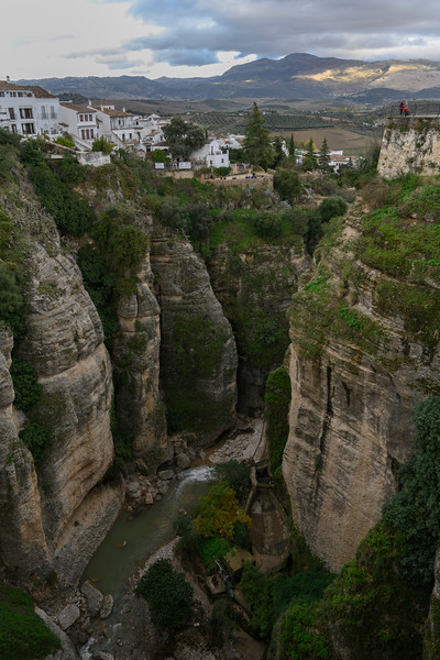 Guadalev�n River streaming through canyon of Ronda, Malaga Province, Spain
