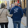 Senior couple walking on the street, Ronda, Malaga, Andalusia, Spain