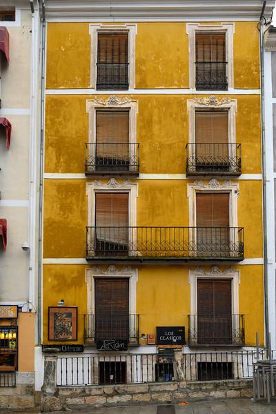 Balconies of apartment, Cuenca, Cuenca Province, Castilla La Mancha, Spain