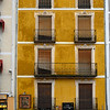 Balconies of apartment, Cuenca, Cuenca Province, Castilla La Mancha, Spain