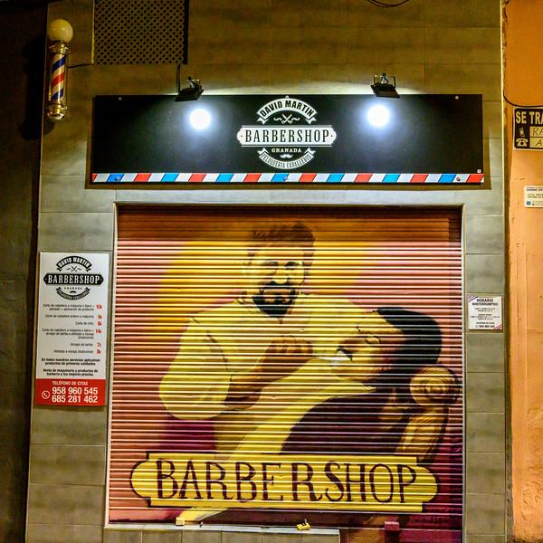 Barber shop, Albolote, Granada Province, Spain