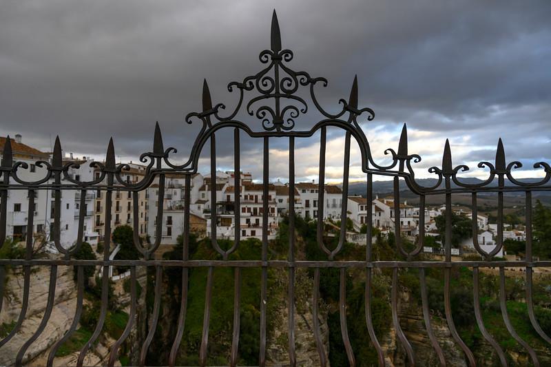 Wrought iron gate, Ronda, Malaga Province, Spain