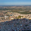 Aerial view of city, Jaen, Jaen Province, Spain