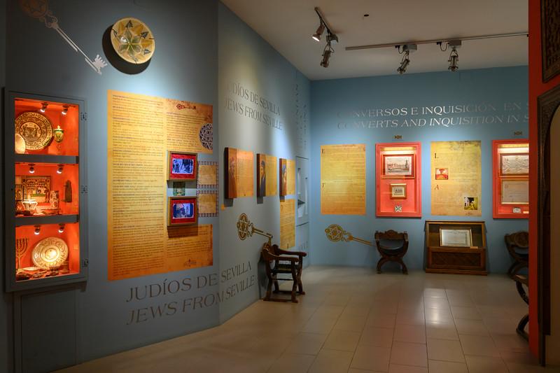 Interiors of a Jewish Museum, Centro De Interpretacion Juderia De Sevilla, Jewish Quarter of Seville, Santa Cruz, Seville, Seville Province, Spain