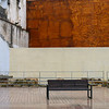 View of empty bench, Distrito Centro, Cordoba, Cordoba Province, Andalusia, Spain