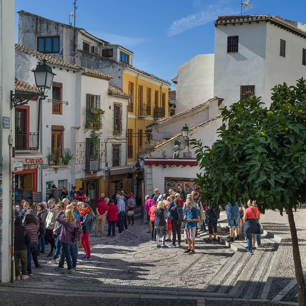 People on the street, Granada, Granada Province, Spain