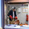 Chef in the kitchen preparing food, Distrito Centro, C�rdoba, C�rdoba Province, Spain