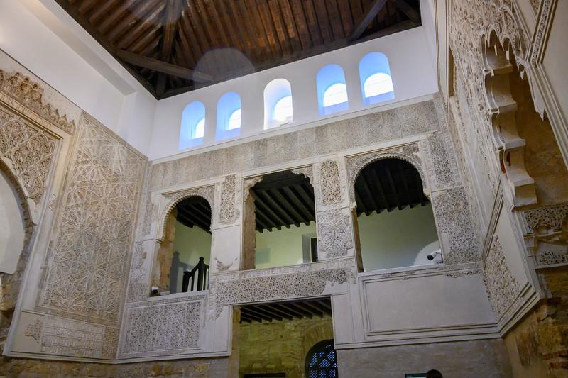 Moorish architecture on the walls of the Jewish temple in C�rdoba Synagogue, Distrito Centro, C�rdoba, C�rdoba Province, Spain
