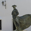 Bullfighter Cayetano statue in Ronda, Malaga Province, Spain