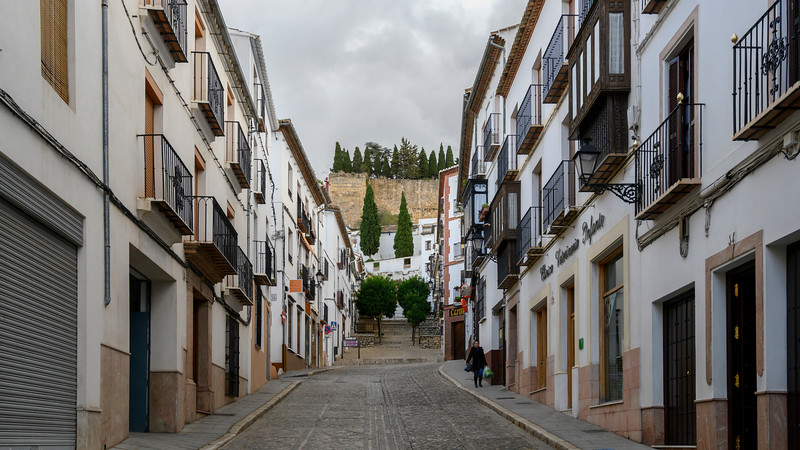 Houses along an alley, Antequera, Andalusia, Spain