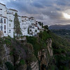 Buildings at edge of canyon of at Ronda, Malaga Province, Spain