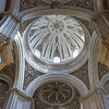 Low angle view of dome of a cathedral, Granada, Granada Province, Spain