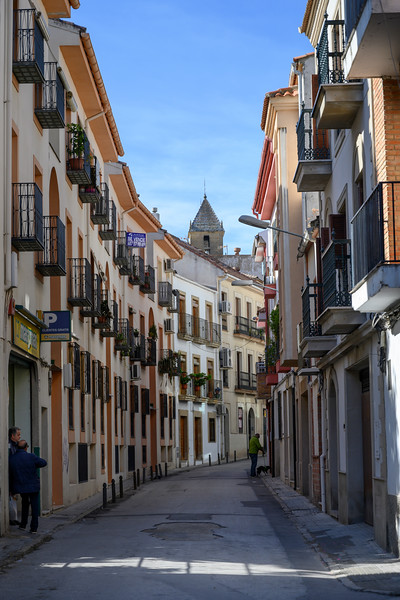 Houses along a narrow street, Ubeda, Jaen Province, Spain