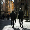 People walking in street, Gamla Stan, Stockholm, Sweden