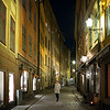 Woman standing in street, Stockholm, Sweden