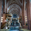 Interiors of Catholic church, Storkyrkan, Stockholm, Sweden