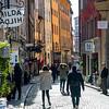 People walking in street, Gamla Stan, Stockholm, Sweden