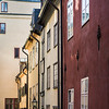 View of buildings in old town, Gamla Stan, Stockholm, Sweden