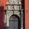Entrance of St James Church, Stockholm, Sweden