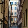 View of narrow alley, Gamla Stan, Stockholm, Sweden