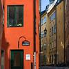 Facade of arts gallery, Galleri Norrsken, Gamla Stan, Stockholm, Sweden