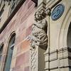 Carving details on column of building, Strandvagen, Ostermalm, Stockholm, Sweden