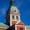 Clock tower of St James Church, Stockholm, Sweden