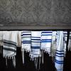 Jewish prayer shawls at Great Synagogue of Stockholm, Wahrendorffsgatan, Stockholm, Sweden