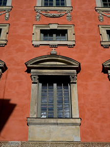 Windows of building, Gamla Stan, Stockholm, Sweden