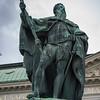 Low angle view of statue of Gustav Eriksson Vasa, Riddarhustorget, Gamla Stan, Stockholm, Sweden