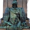 Statue of suit of armor at Gustav Adolfs Torg, Stockholm, Sweden