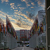 Flags at United Nations Office, Geneva