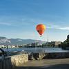 Hot air balloon over Geneva, Switzerland