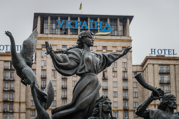 Statue of the founders of Kiev