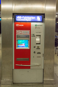 Ticket machine in Berlin Underground