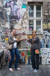 BERLIN -  Typical grunge art court in Berlin.  Court located just next to the Hackesche court in Berlin stylish Scheunenviertel