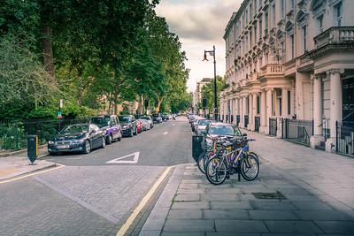 Typical London street scene.