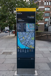 London direction sign located in pimlico.