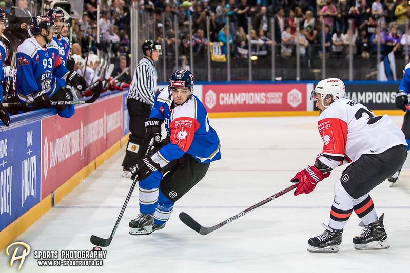 Champions Hockey League: EV Zug - JYP Jyväskylä - 6:3 - Bild-ID: 201709020920